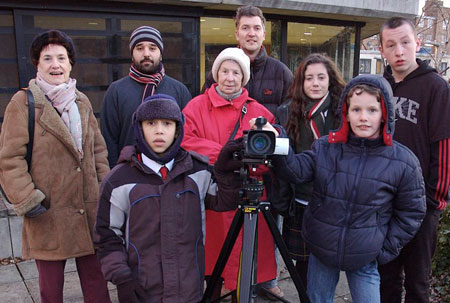 Some of the film-making group