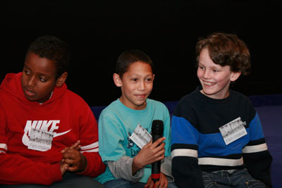 Abdullahi, Marcel and Jack at the q&a